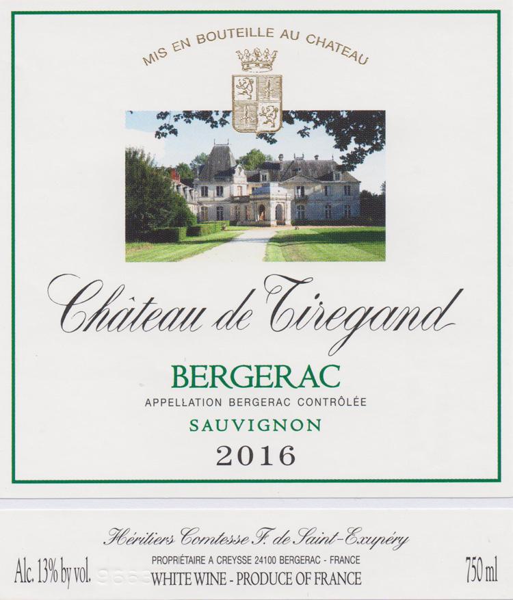 Bergerac sec Château de Tiregand Bergerac blanc sec