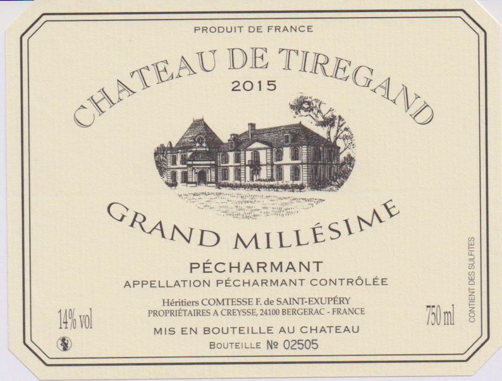Cuvée Grand Millésime Château de Tiregand Bergerac Pécharmant