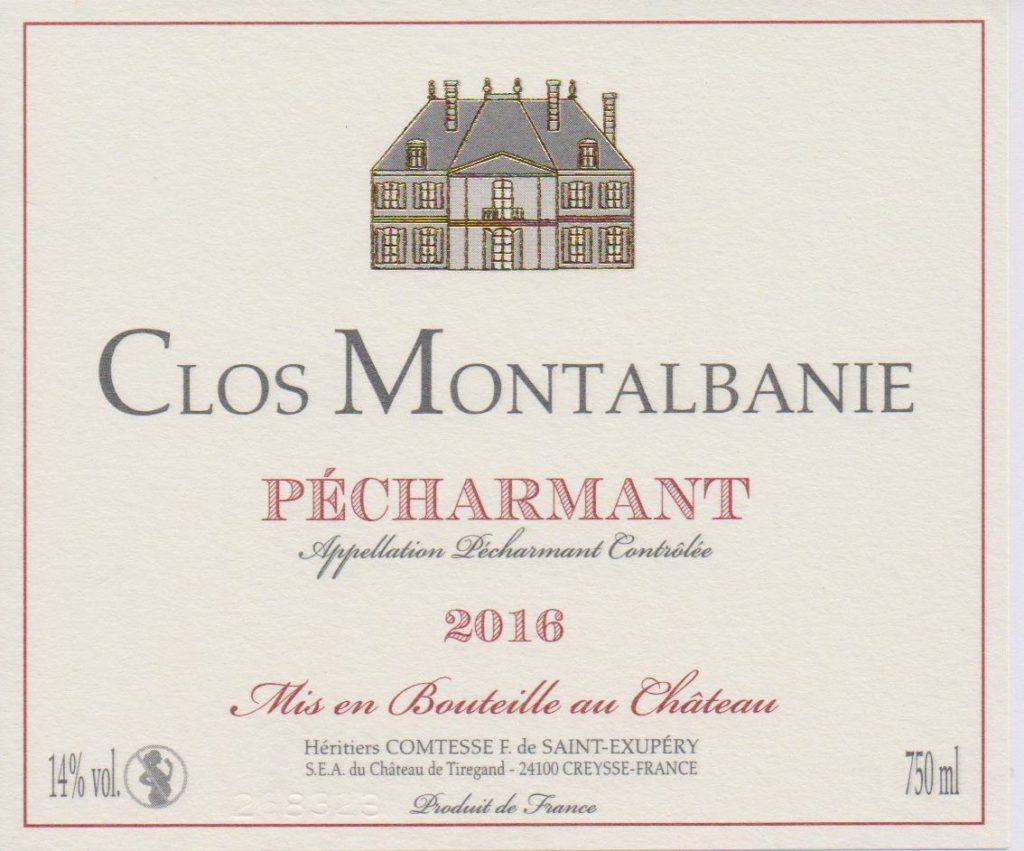 Château de Tiregand Clos Montalbanie vente en ligne